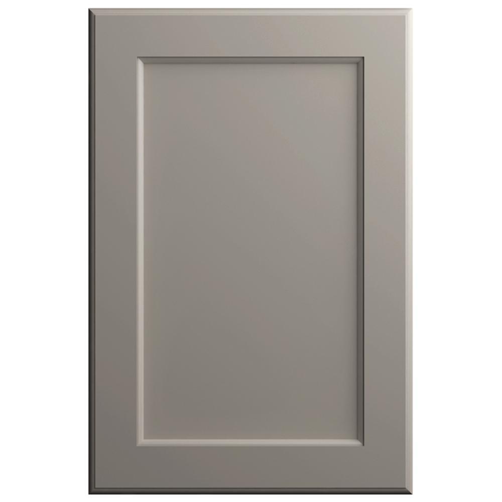 11x15 in. Keary Cabinet Door Sample in Stone Gray