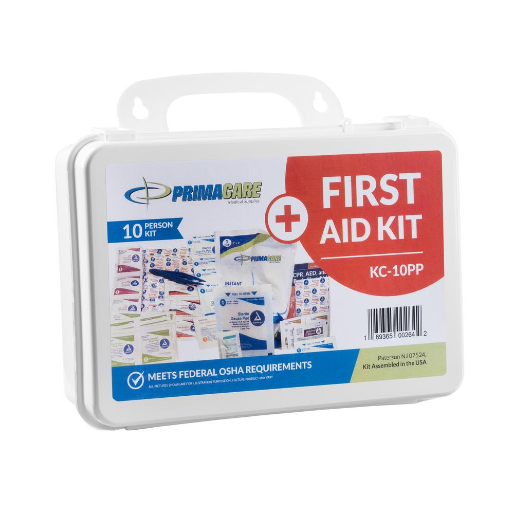 96-Piece 10-Person OSHA Poly First Aid Kit