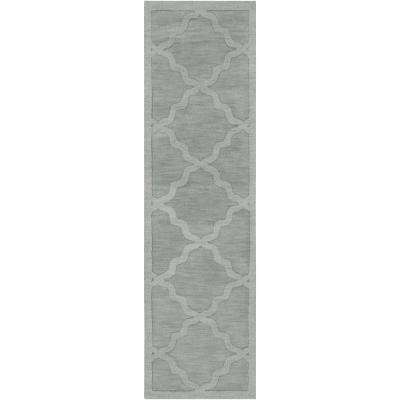 Central Park Abbey Sky Blue 2 ft. x 10 ft. Indoor Runner Rug