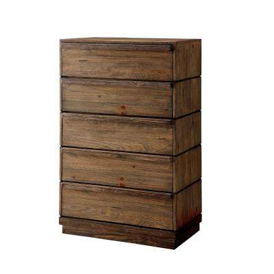 Coimbra Rustic Natural Tone Transitional Style Chest
