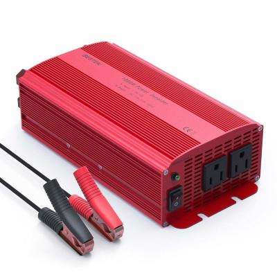 12-Volt DC to AC 1000-Watt Power Inverter