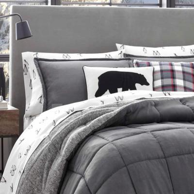 Sherwood Gray Solid Comforter Set