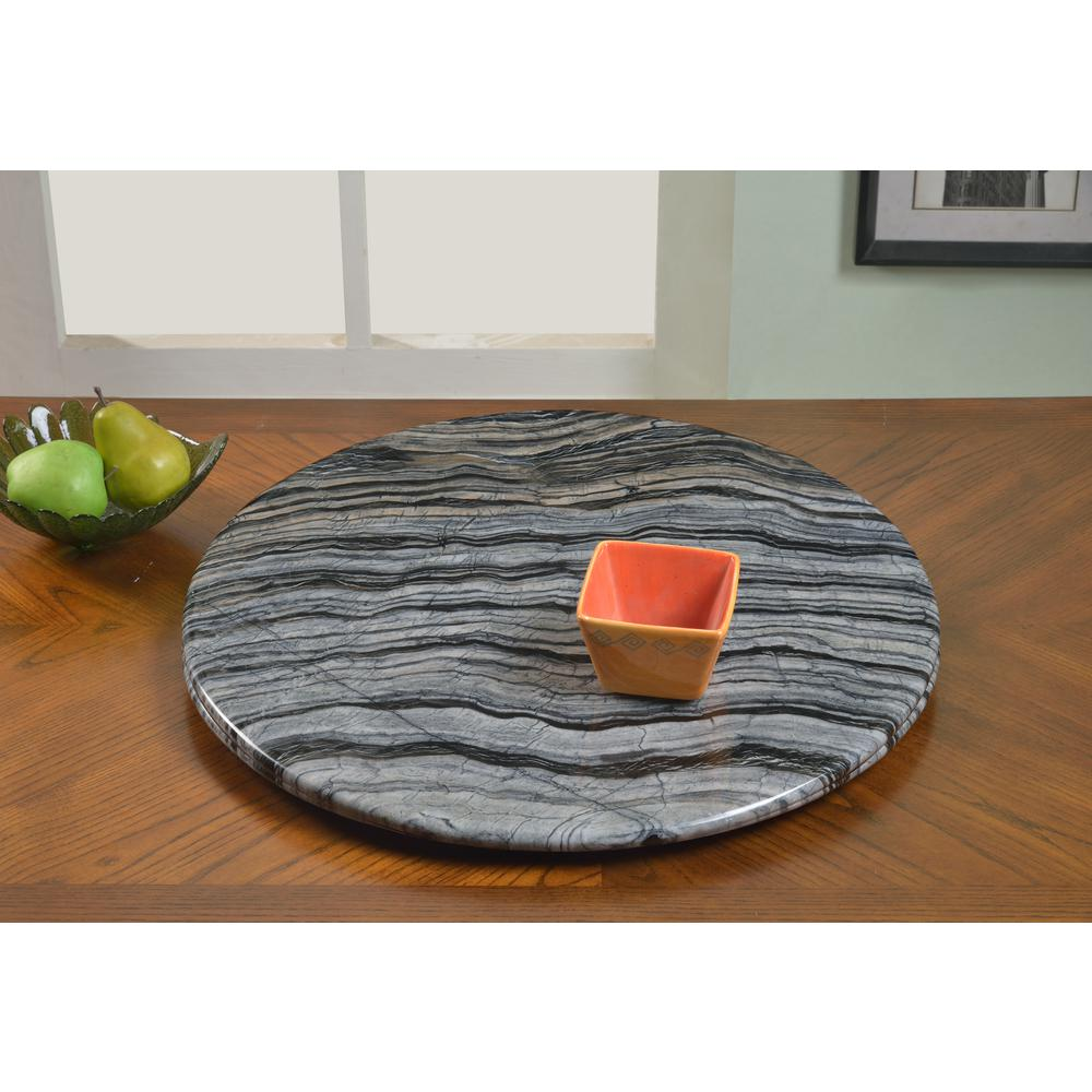 24 In Gray Lazy Susan Marble