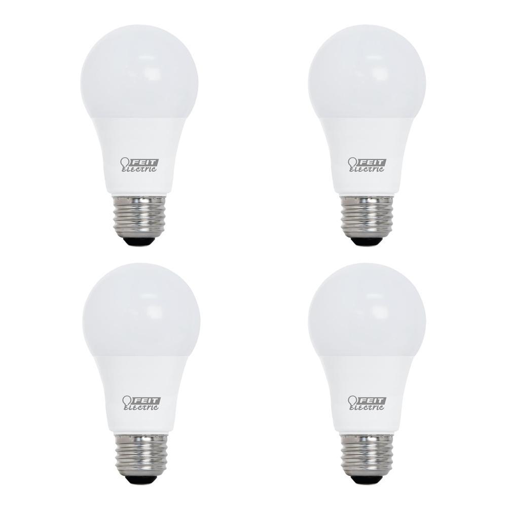 60-Watt Equivalent A19 Dimmable CEC Title 24 Compliant LED ENERGY STAR 90+ CRI Light Bulb, Soft White (4-Pack)