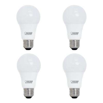 60-Watt Equivalent A19 Dimmable CEC Title 24 Compliant LED ENERGY STAR 90+ CRI Light Bulb, Soft White (4-Pack)