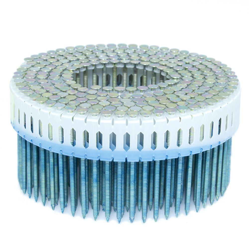 2.25 in. x 0.092 in. 0-Degree Ring Galvanized Plastic Sheet Coil