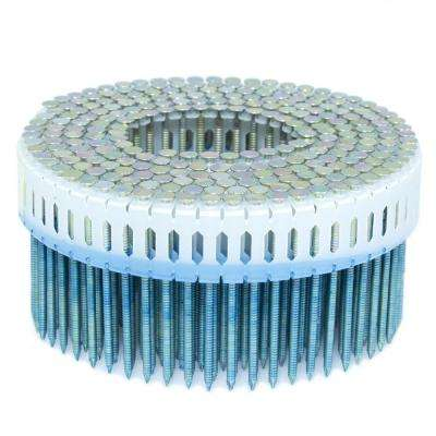 2.25 in. x 0.092 in. 0-Degree Ring Galvanized Plastic Sheet Coil Nail 4,000 per Box