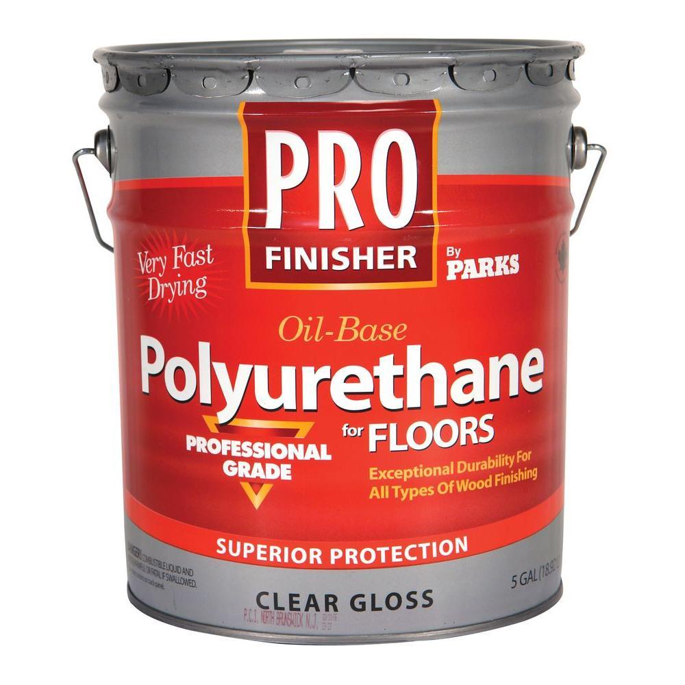 Rust-Oleum Parks Pro Finisher 5 gal. Clear Gloss 450 VOC Oil-Based Interior Polyurethane for Floors
