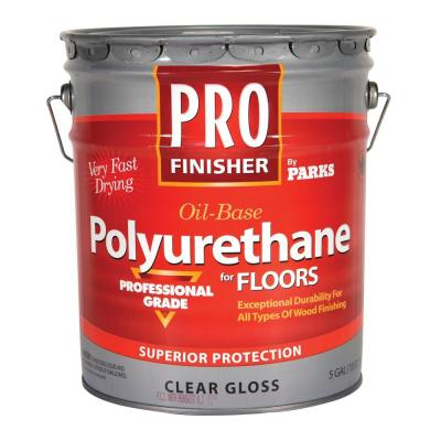 Pro Finisher 5 Gal. Clear Gloss 450 VOC Oil-Based Interior Polyurethane for Floors