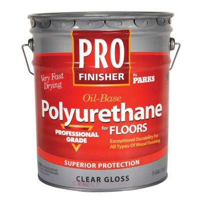 Pro Finisher 5 gal  Clear Gloss 450 VOC Oil-Based Interior Polyurethane for  Floors