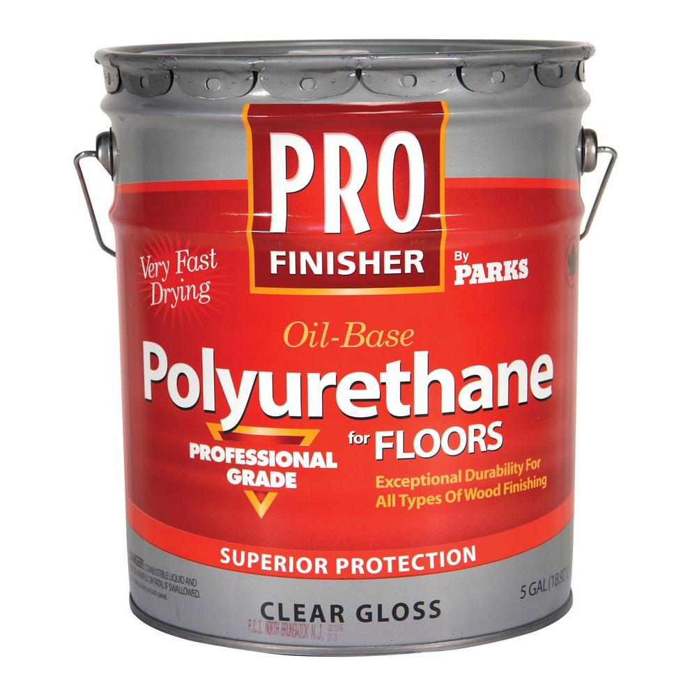 5 gal. Clear Gloss Oil-Based Interior Polyurethane for Floors