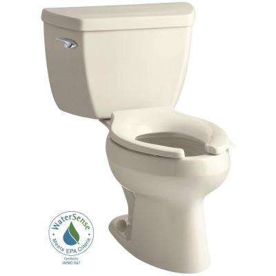 Wellworth Classic 2-piece 1.0 GPF Single Flush Elongated Toilet in Almond