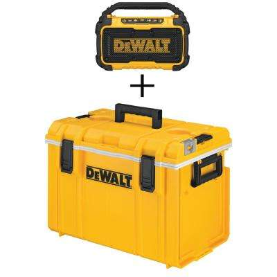 22 in. ToughSystem Tool Box Cooler with Bluetooth Speaker