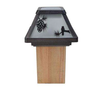 Northwood's Glass Silhouette Solar Outdoor Integrated LED Post Cap Deck Light