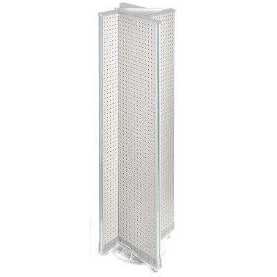 60 in. H x 13.5 in. W Pinwheel Pegboard Floor Display in Clear