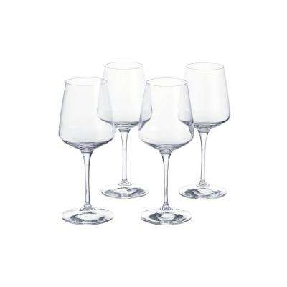 Genoa 15.5 oz. Lead-Free Crystal White Wine Glasses (Set of 4)