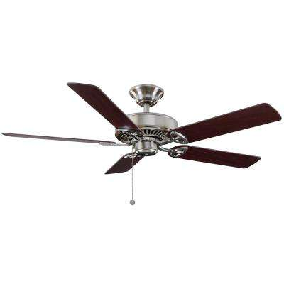 Farmington 52 in. Indoor Brushed Nickel Ceiling Fan