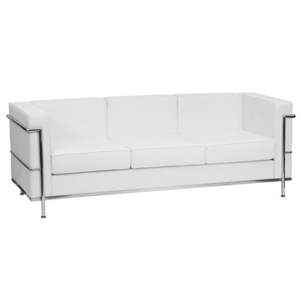 Flash Furniture Hercules Regal Series Contemporary White Leather ...