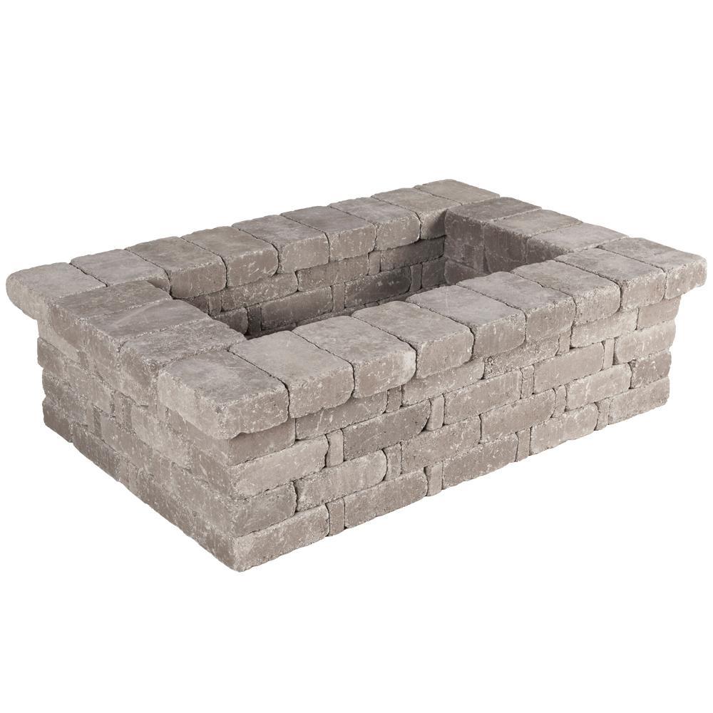 Pavestone Rumblestone RumbleStone 63 in. x 17.5 in. x 42 in. Rectangle Concrete Planter Kit in Greystone