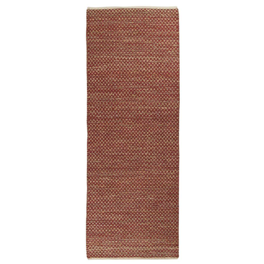Home Decorators Collection Boxes Red 3 ft. x 8 ft. Rug Runner