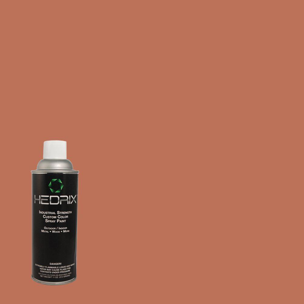 Hedrix 11 oz. Match of PMD-11 Warm Terra Cotta Semi-Gloss Custom Spray Paint (2-Pack)