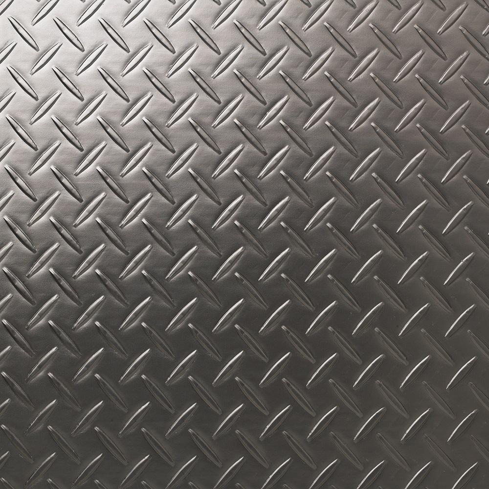 18 in. x 18 in. x 0.118 in. Deckplate Charcoal Luxury Vinyl Tile (36 sq. ft. / case)