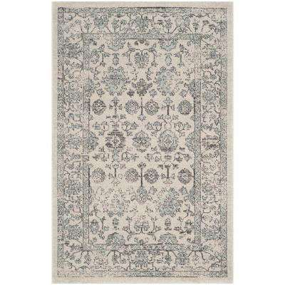 Carmel Beige/Blue 4 ft. x 6 ft. Area Rug