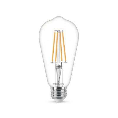 60-Watt Equivalent ST19 Dimmable Vintage Glass Edison LED Light Bulb Soft White Warm Glow Effect (2700K)