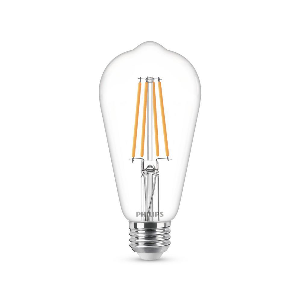 60-Watt Equivalent ST19 Dimmable Vintage Glass Edison LED Light Bulb Soft White Warm Glow Effect (2700K)