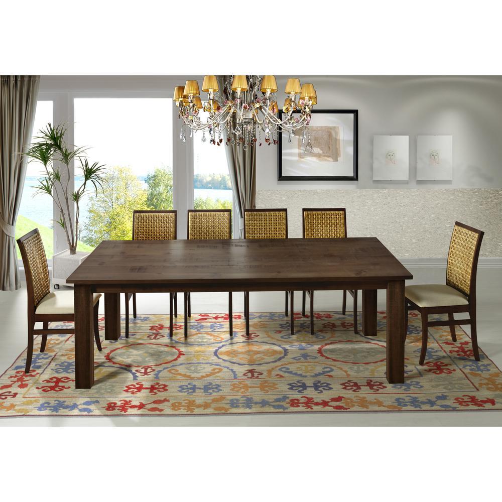 Artefama furniture flora 94 in cinnamon square legs dining table