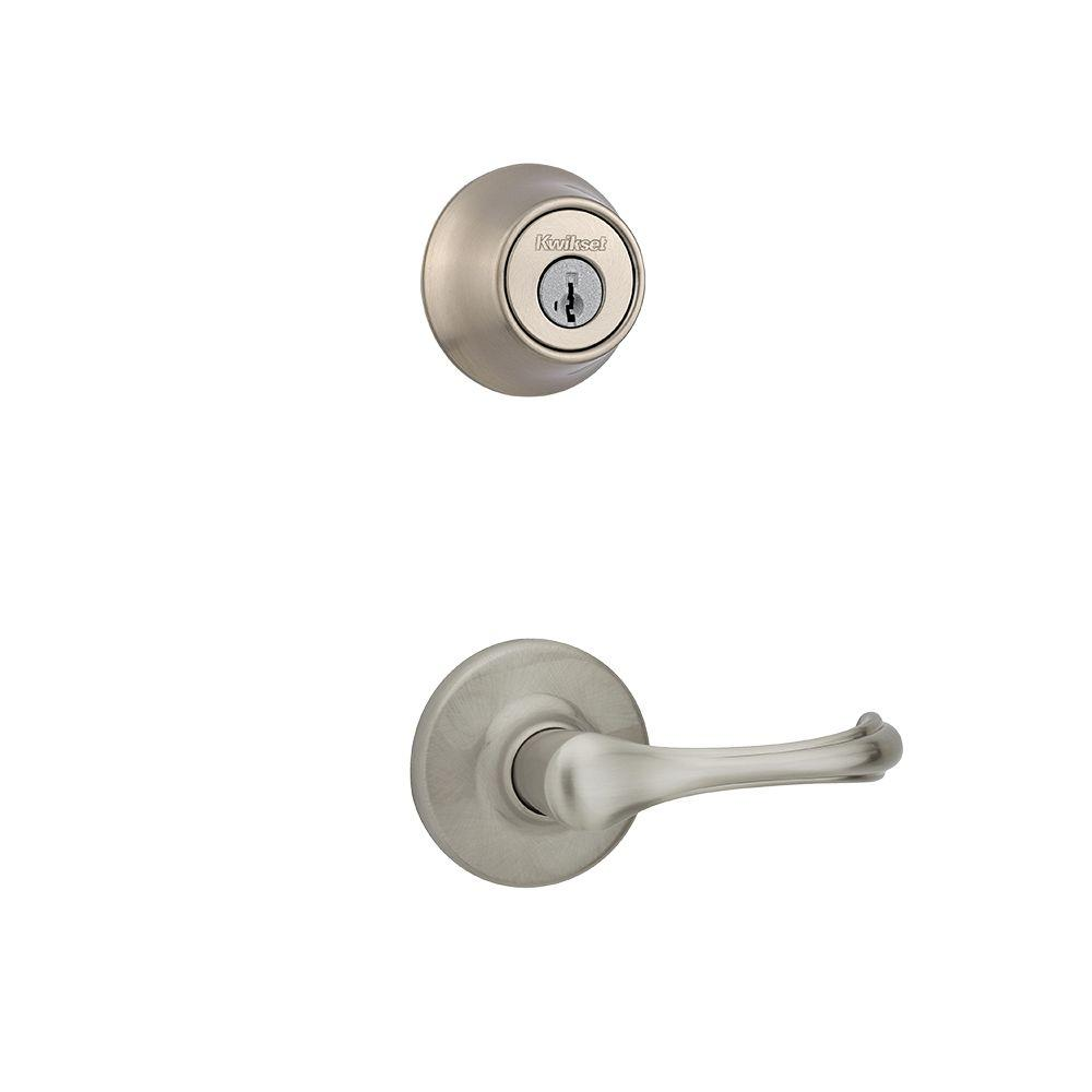 Dorian Double Cylinder Satin Nickel Interior Pack Lever featuring SmartKey