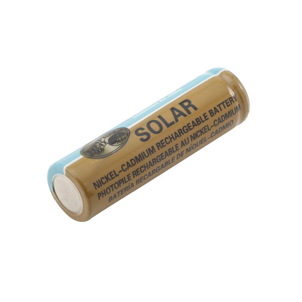 Hampton Bay Nickel-Cadmium Solar Rechargeable AA Batteries New Sealed 4-Pack