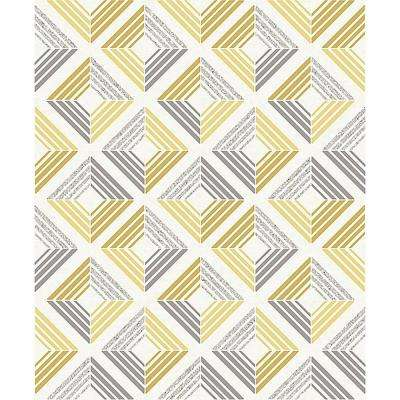 8 in. x 10 in. Echo Yellow Geometric Sample
