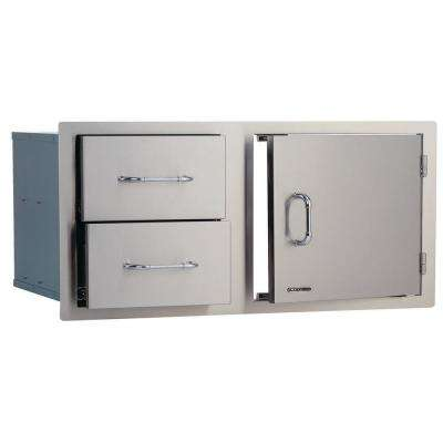 40-1/2 in. x 22 in. x 20-1/2 in. Door/Drawer Combo Double Walled System