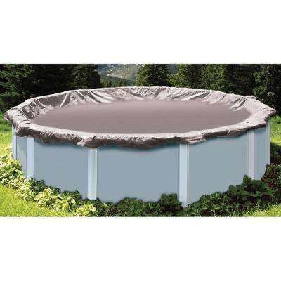 34 ft. x 34 ft. Round Silver Above Ground Super Deluxe Winter Pool Cover