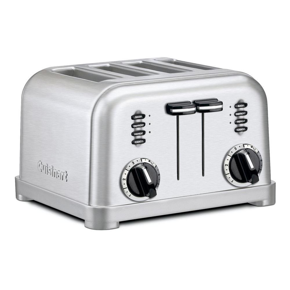 4-Slice Graphite/Metallic Stainless Steel Toaster