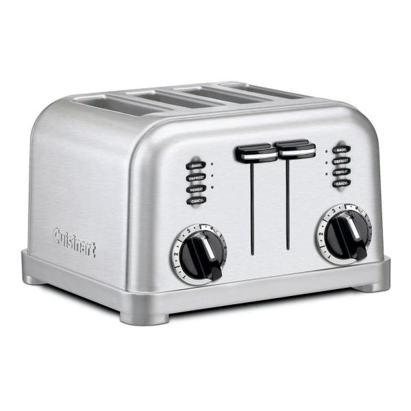 Cuisinart Artisan Bread 2-Slice Stainless Steel Long Slot Toaster with Crumb