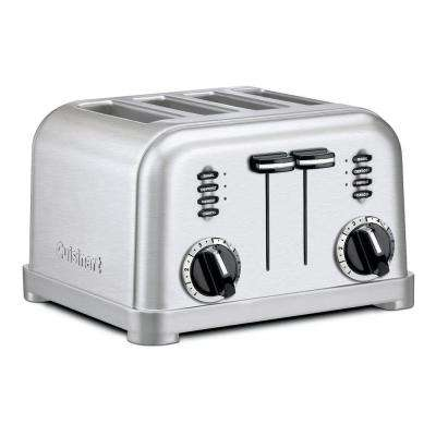 4-Slice Graphite/Metallic Stainless Steel Toaster