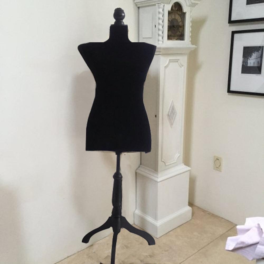 Female Solid Black Mannequin