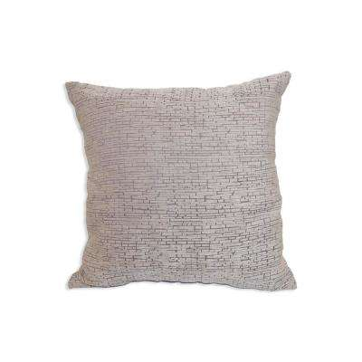 Distressed Chenille Gray Decorative Pillow