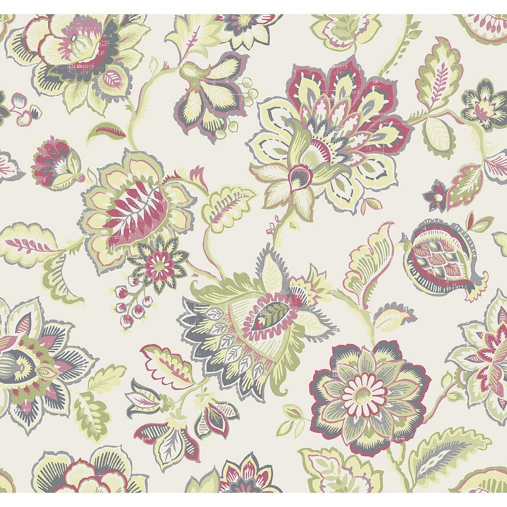 Corona Green Jacobean Strippable Wallpaper (Covers 60.8 sq. ft.)
