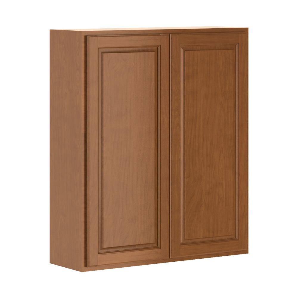 Hampton Bay Madison Assembled 36x42x12 In Wall Cabinet In Cognac W3642 Mcog The Home Depot