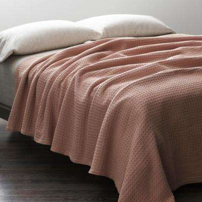 Rose Quartz King Organic Cotton Blanket