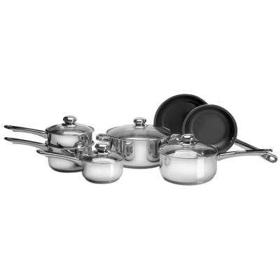 11-Piece Cookware Set in Stainless Steel