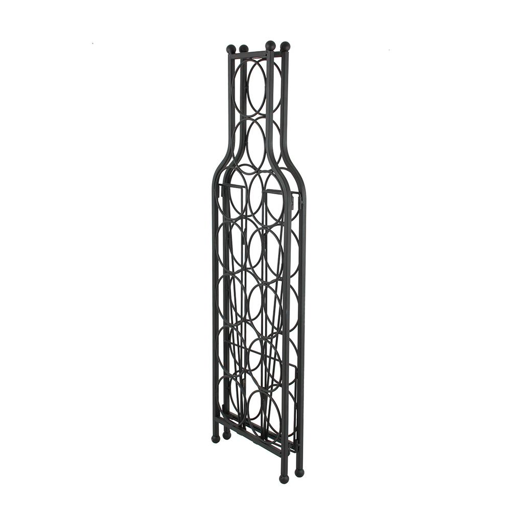 Oenophilia 12-Bottle Black Wine Matrix Wine Rack
