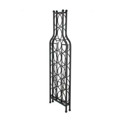 12-Bottle Black Wine Matrix Wine Rack