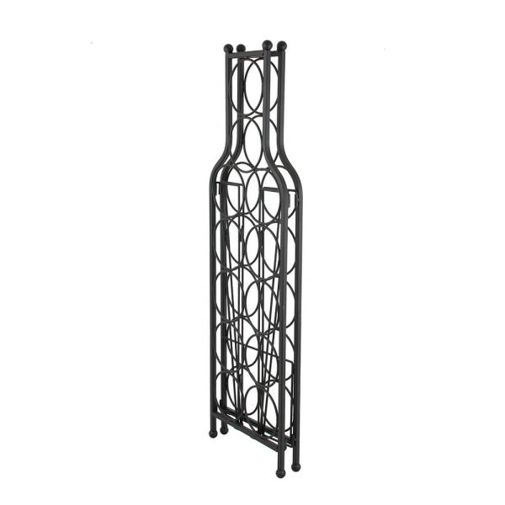 Oenophilia - 12-Bottle Black Wine Matrix Wine Rack