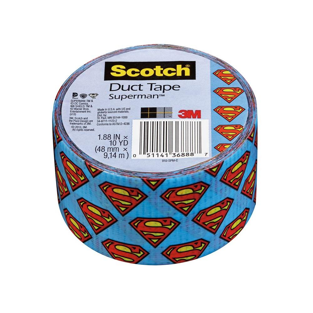 Scotch 1.88 in. x 10 yds. Superman Duct Tape