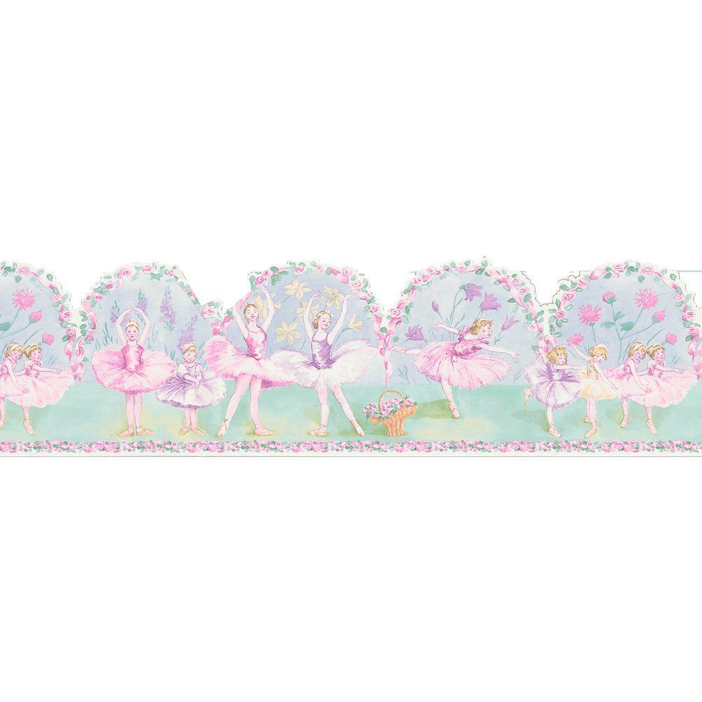 Kids World Pavlova Ballerina Wallpaper Border