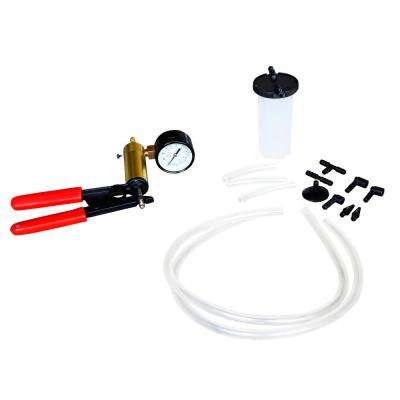 Brake Bleeder and Vacuum Pump Kit (15-Piece)
